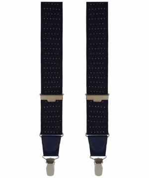 Uni bretellen met leder applic logo
